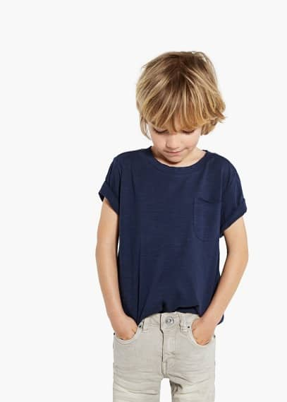 Patch pocket t-shirt | MANGO KIDS