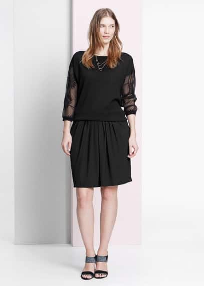Decorative pleat skirt | VIOLETA BY MANGO