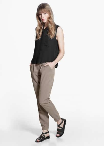 Soft baggy trousers | MANGO