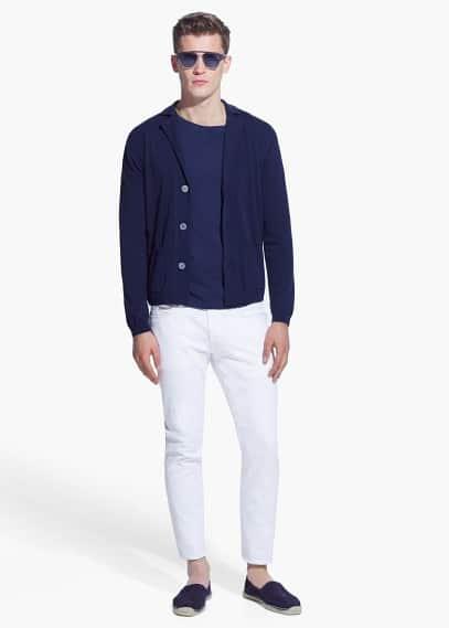 Pocket cotton cardigan