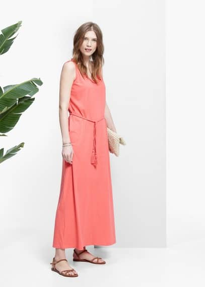 Braided trim dress | VIOLETA BY MANGO
