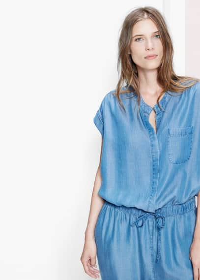 Long soft fabric jumpsuit | VIOLETA BY MANGO