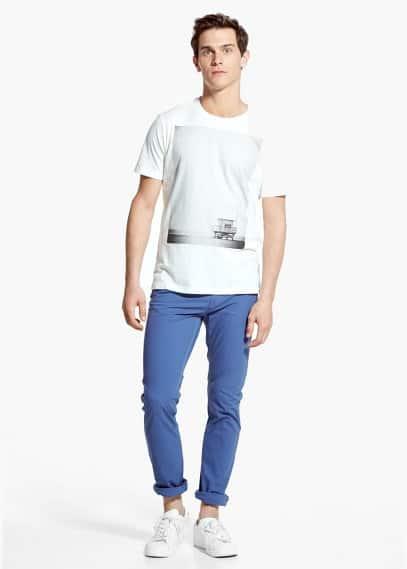 T-shirt met fotoprint | MANGO MAN