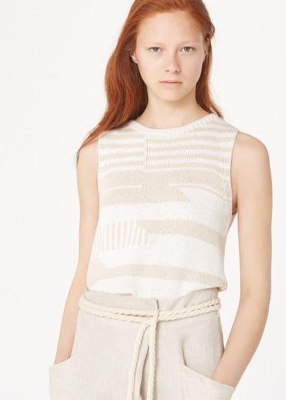 Premium - knitted jacquard top | MANGO