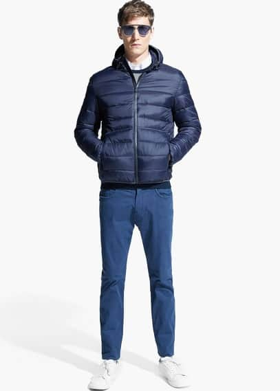 Hooded water-repellent quilted jacket | MANGO MAN