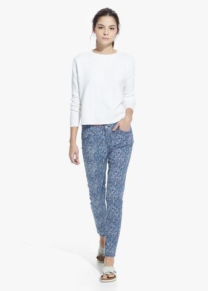 Katoenen broek met print | MANGO
