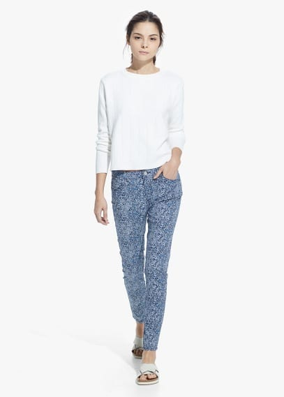 Pantalón estampado algodón | MANGO