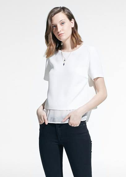 Textured double-layer blouse | MANGO