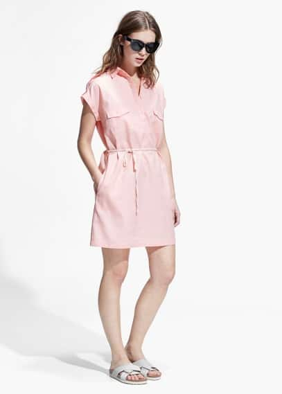 Cotton shirt dress | MANGO
