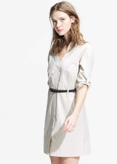 Belted shirt dress | MANGO