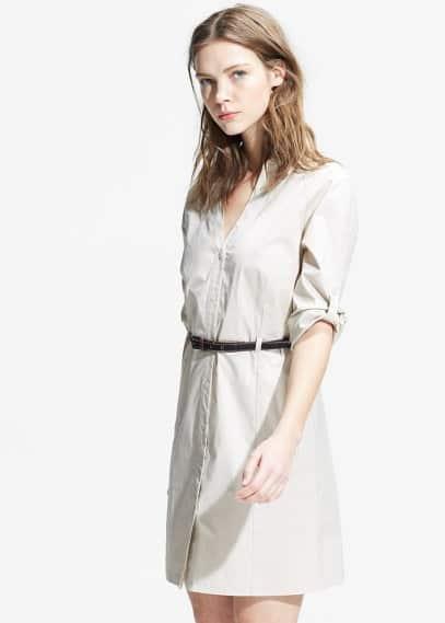 Vestit camiser cinturó | MANGO