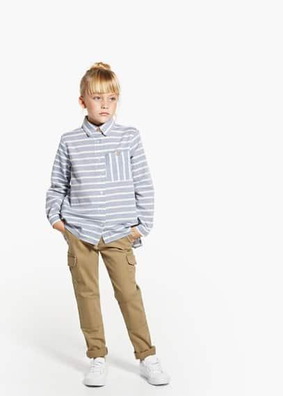 Pantalons cargo cotó | MANGO KIDS