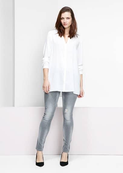 Lange lichte blouse | VIOLETA BY MANGO