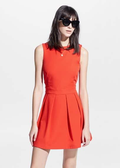 Cut-out back dress | MANGO