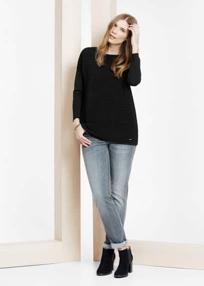 Slated knit sweater | VIOLETA BY MANGO