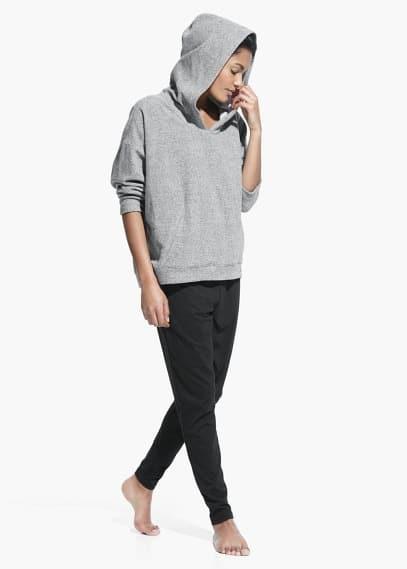 Yoga - plush hoodie   MANGO