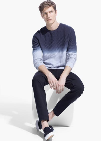 Textured degrade sweater | MANGO MAN