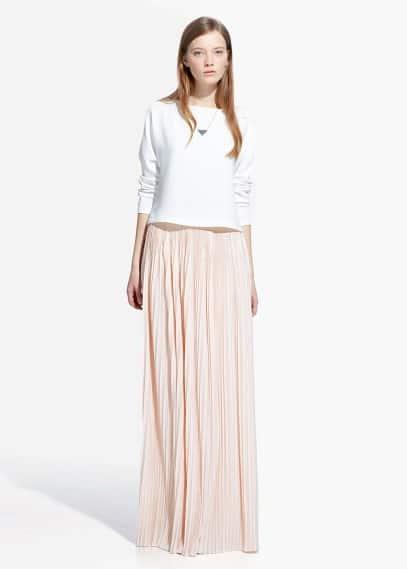Metallic detail skirt | MANGO