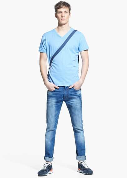 T-shirt coton flammé