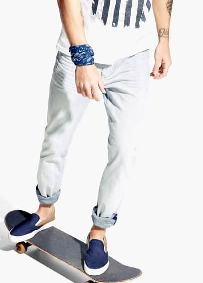 Jeans tim slim-fit lavaggio bleach | MANGO MAN