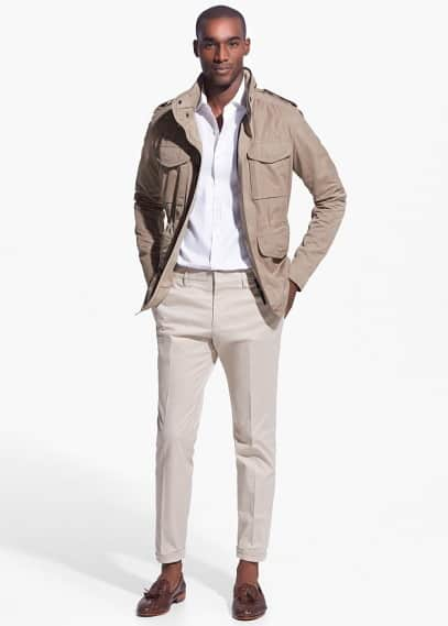 Field jacket capucha oculta