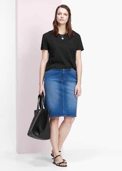 Denim skirt | VIOLETA BY MANGO