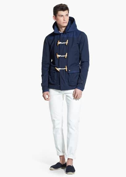 Detachable-hood nylon duffle coat | MANGO MAN