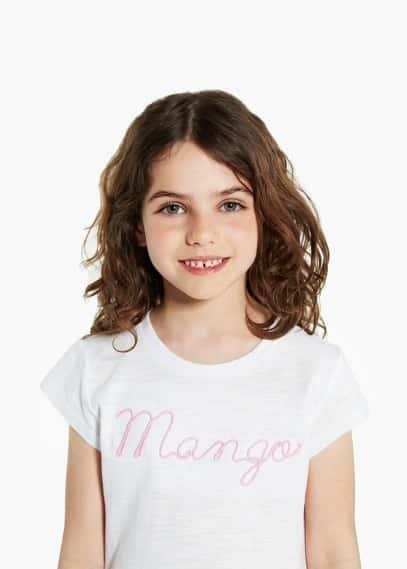 Logo embroidered t-shirt | MANGO MAN