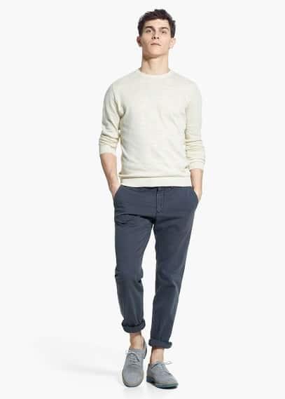 Fine-knit cotton sweater | MANGO MAN