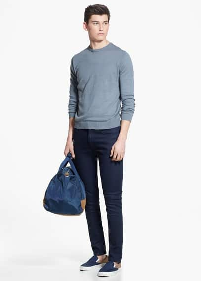 Fine-knit cotton sweater | MANGO MAN
