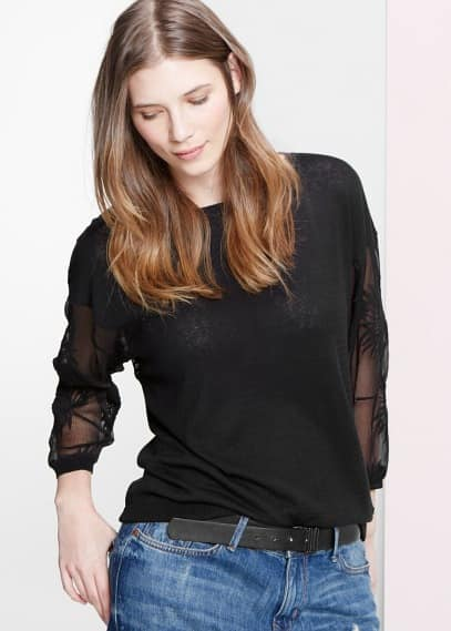 Silk panels sweater | VIOLETA BY MANGO