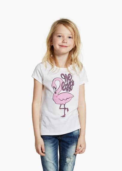 Flamingo-t-shirt | MANGO KIDS