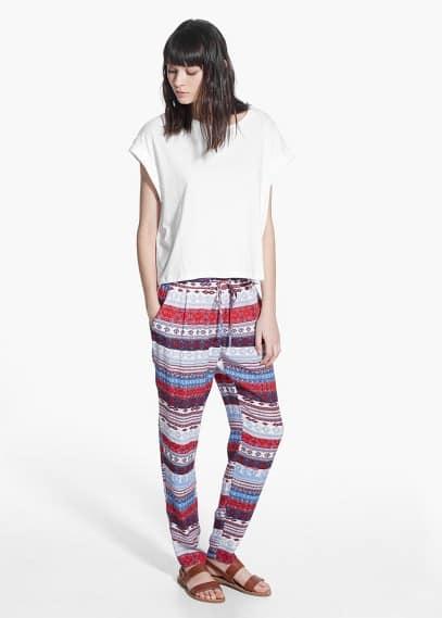 Bő mintás nadrág | MANGO