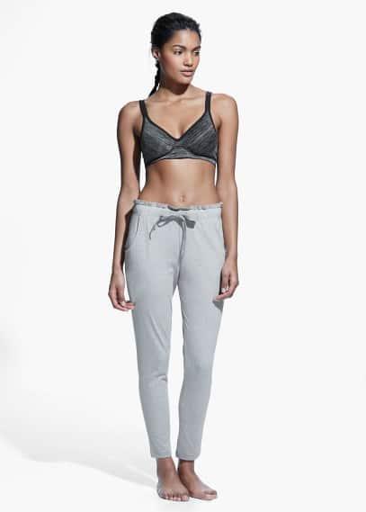Yoga - pantalons llargs relax | MANGO