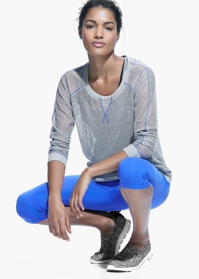 Fitness & running - cotton mesh sweatshirt | MANGO