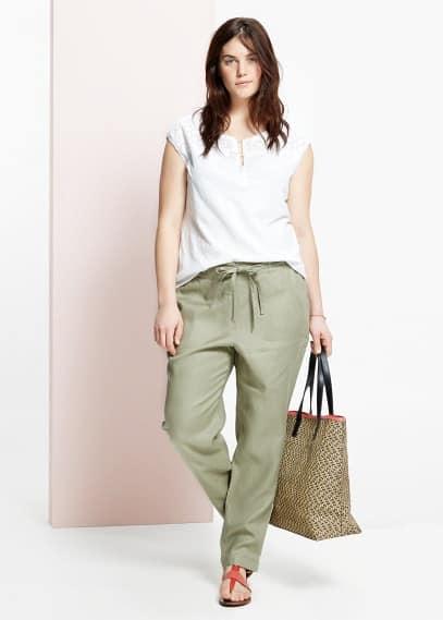 Pantalón baggy lino | MNG