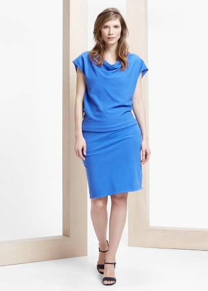 Draped neckline dress | VIOLETA BY MANGO