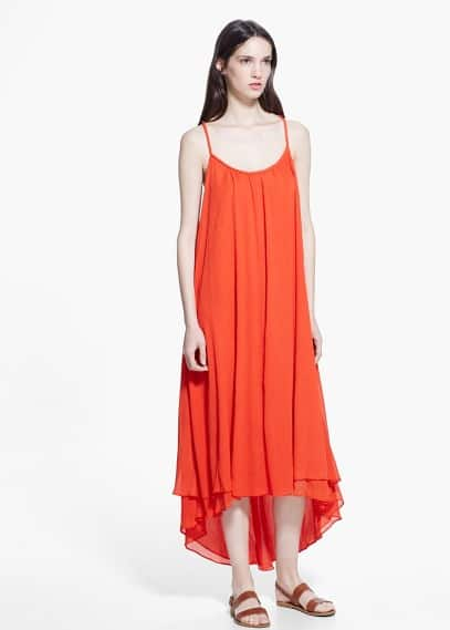 Midi asymmetric dress | MANGO