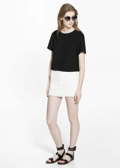 Cotton miniskirt | MANGO
