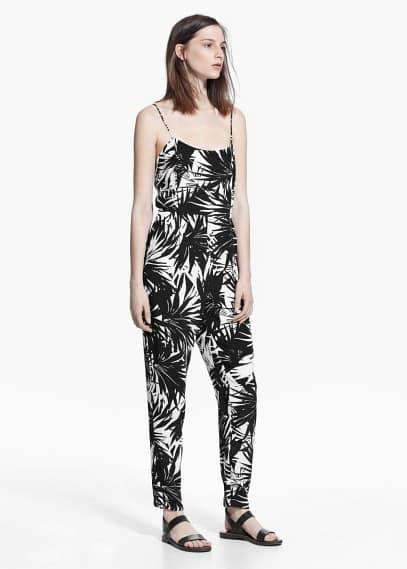 Jumpsuit met palmprint | MANGO