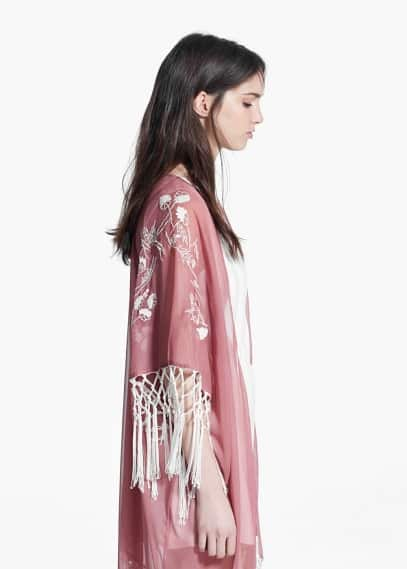 Embroidered caftan | MANGO