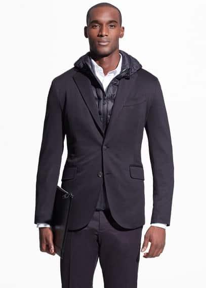 Unstructured jersey blazer | MANGO MAN