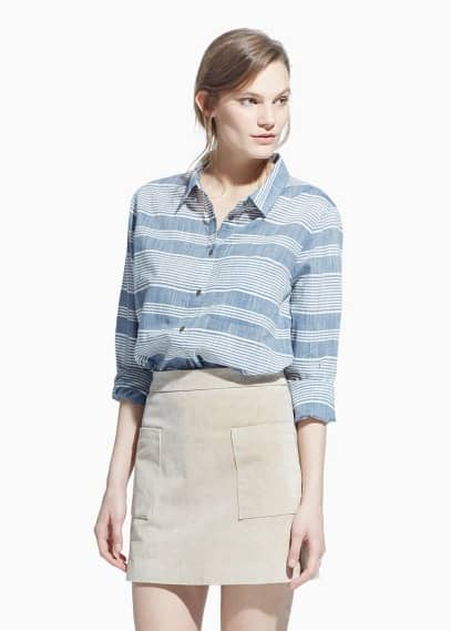 Suede skirt | MANGO