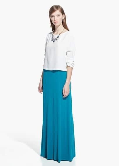 Stretch long skirt | MANGO