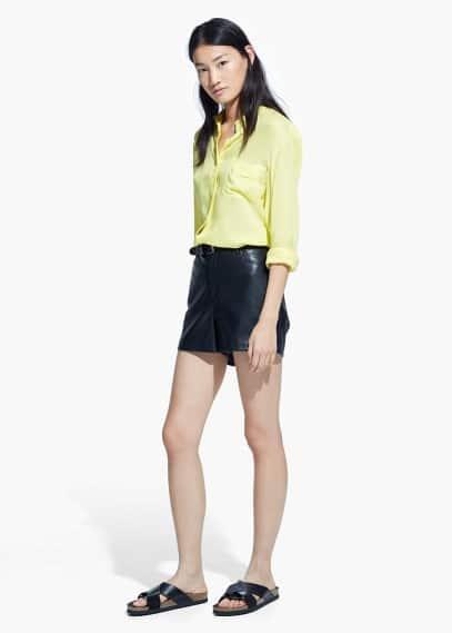 Camisa ligera bolsillo | MANGO