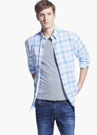 Classic-fit check shirt | MANGO MAN