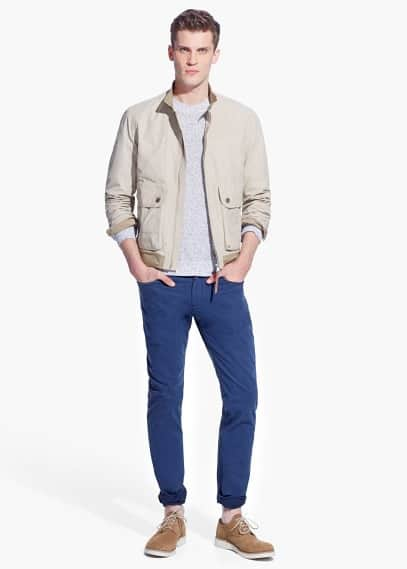 Contrast edge nylon jacket | MANGO MAN