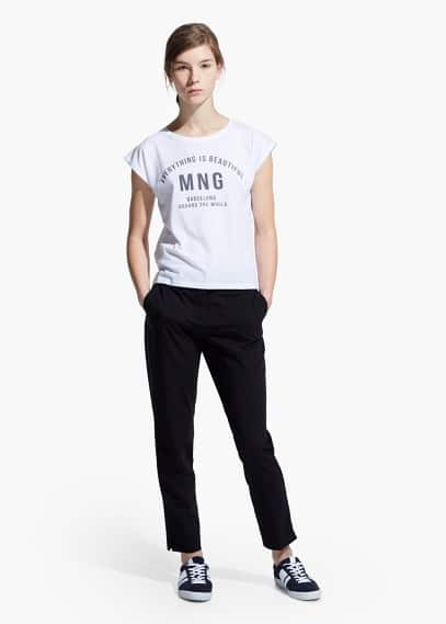Logo message t-shirt | MANGO