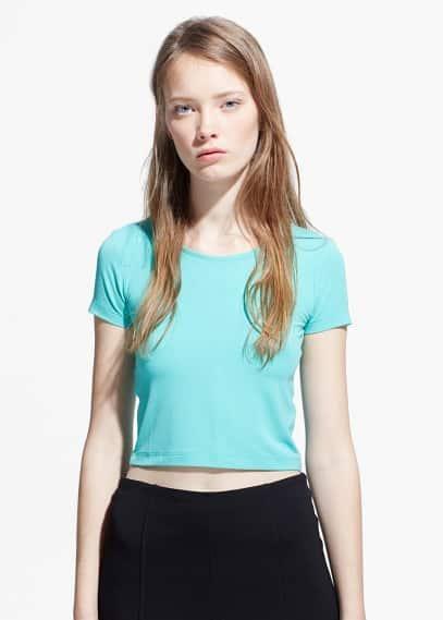 Cropped t-shirt | MANGO