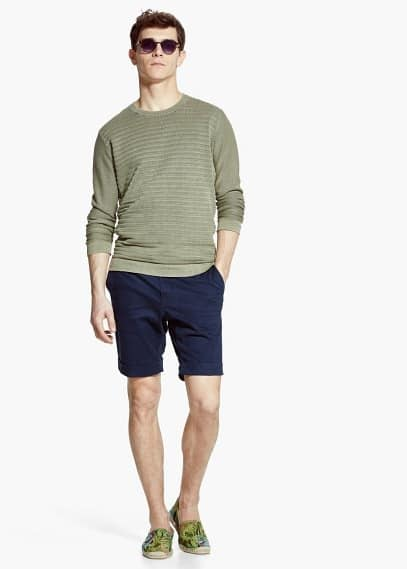 Rolled-up hem bermuda shorts | MANGO MAN